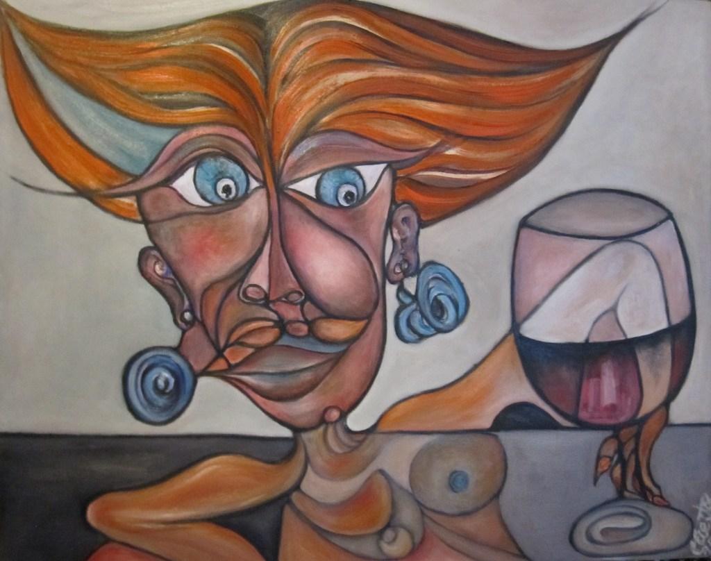 2. A bebedora de vino